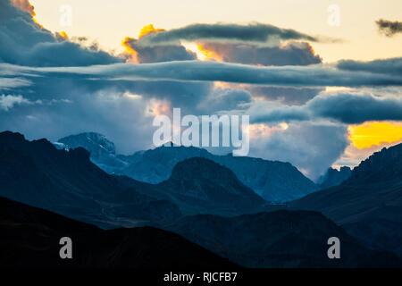 Europe, Italy, Alps, Dolomites, Mountains, Veneto, Belluno, Giau Pass - Stock Image