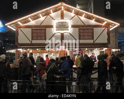 Edinburgh Xmas,Cafe Renee,German Sausage House - Stock Image