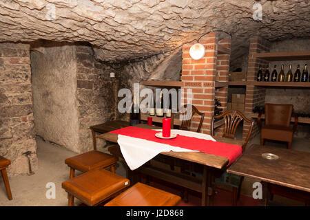 Czech Republic, Prague. Wine cellar at National Wine Bank. Credit as: Wendy Kaveney / Jaynes Gallery / DanitaDelimont.com - Stock Image
