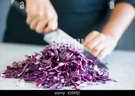 choping ingredients - Stock Image