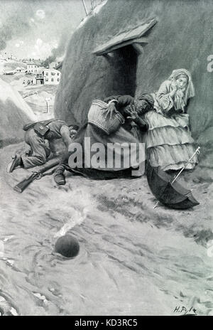 Siege of Vicksburg, Vicksburg Campaign, 1863. American Civil War. Non-combattant citizens of Vicksburg sheltering - Stock Image