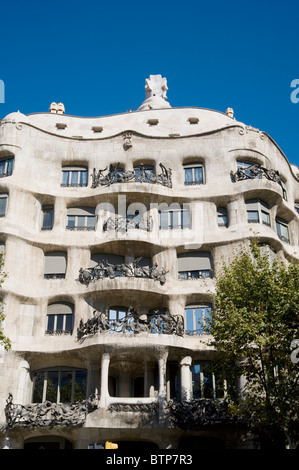 Casa Mila by Gaudi, Barcelona, Catalonia, Spain - Stock Image