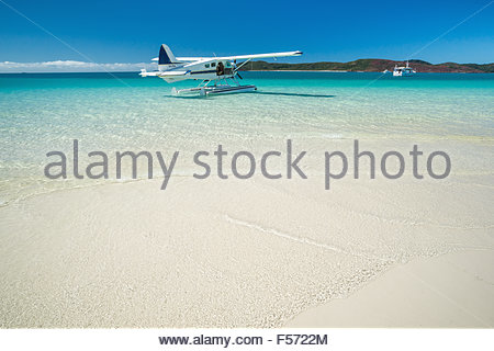 Whitehaven beach on Whitsunday island - Whitsundays - Queensland (Australia) - Stock Image