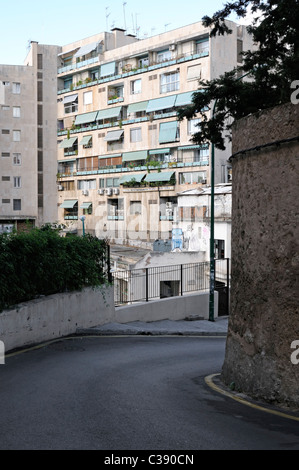Gebäude im Stadtviertel El Terreno, Palma, Mallorca, Spanien. - Edifice in the district of El Terreno, Palma, - Stock Image