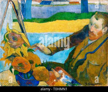 Paul Gauguin, Van Gogh Painting Sunflowers, 1888 - Stock Image