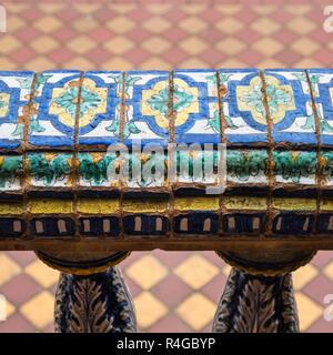 Close up detail of Plaza de Espana, Seville, Andalucia, Spain - Stock Image