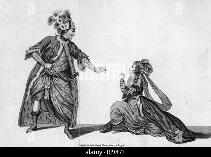 TAMERLANE Mr and Mrs Barry in the characters of Bajazet and Selima, Act V: 'Now, now thou traitress...' - Stock Image