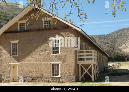 Barracks at Fort Tejon, protecting the San Joaquin Valley, near Lebec, California. Digital photograph - Stock Image