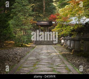 Taiyuin Masoleum during autumn, Nikko, Japan - Stock Image