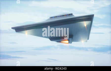 UFO, computer illustration. - Stock Image