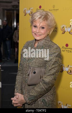 Celebs attend gala evening for Dolly Parton's 9 to 5 The Musical  Featuring: Angela Rippon Where: London, United Kingdom When: 17 Feb 2019 Credit: Phil Lewis/WENN.com - Stock Image