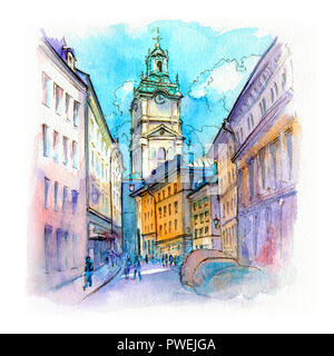Church Storkyrkan in Stockholm, Sweden - Stock Image