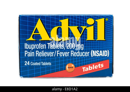Advil Ibuprofen tables pain reliever/Fever Reducer - Stock Image