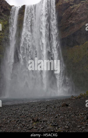 Skogafoss waterfall in Southern Iceland - Stock Image