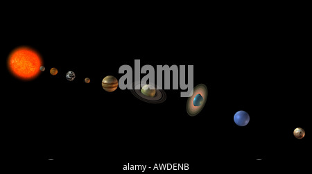 Solar system - Stock Image