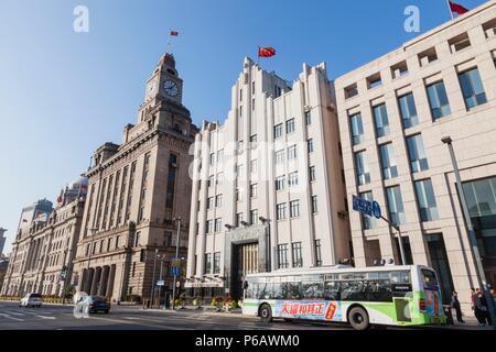 China,Shanghai,The Bund,Historic Buildings - Stock Image