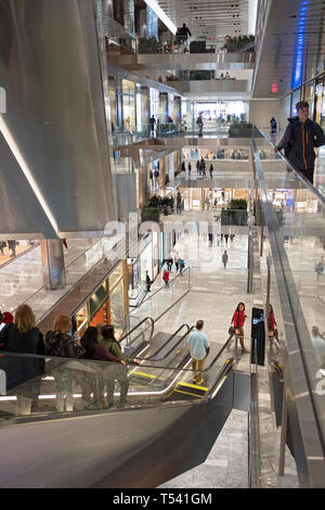 A view of the interior of  at 20 Hudson Yards on the West Side of Manhattan, New York City. - Stock Image