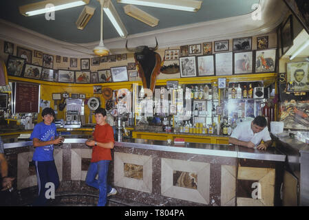 Bullfighting themed Spanish bar. Madrid. Spain. Europe. Circa 1980's - Stock Image