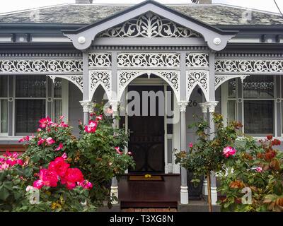 Late Victorian mansion (1870-1900) in suburban Ascot Vale, Melbourne, Australia - Stock Image