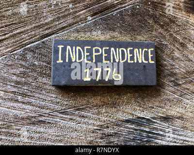 Date marker sign for USA independence in the year of 1776. - Stock Image