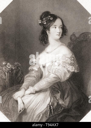 Katherine. Principal female character from Shakespeare's play Taming of the Shrew.  From Shakespeare Gallery, published c.1840. - Stock Image