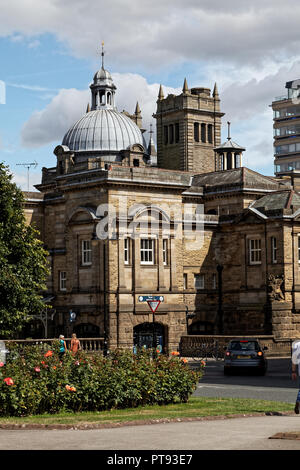 The Royal Baths seen from Crescent Gardens, Horrogate, Yorkshire, England, UK - Stock Image