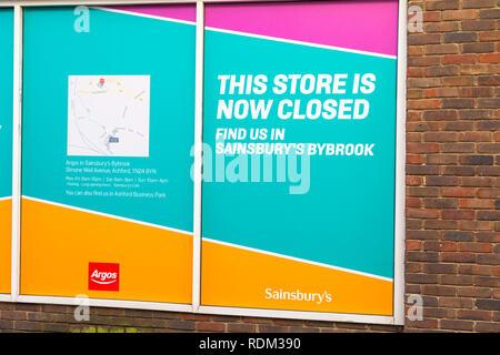 Closed down shop, argos, ashford, kent, uk - Stock Image
