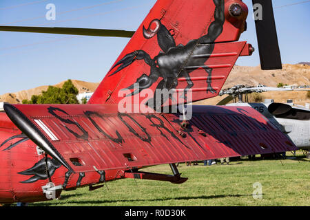 Los Angeles, California USA 3 NOV 2018 Navy helicopter from HSM-49 sporting fancy art work  at the American Heroes Airshow in Los Angeles Credit: Chester Brown/Alamy Live News - Stock Image