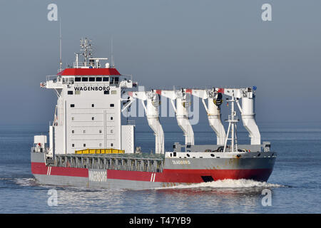 General Cargo Ship Taagborg - Stock Image