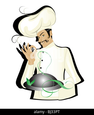 Chef isolated - Stock Image