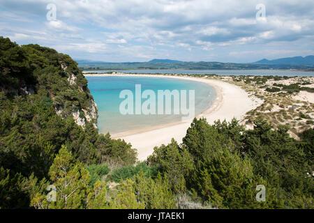 Voidokilia Beach in the Peloponnese, Greece, Europe - Stock Image