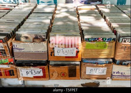 Israel, Tel Aviv-Yafo - 19 April 2019: Shuk hapishpeshim flea market - Stock Image