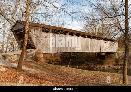 Switzer Covered Bridge in Franklin County Kentucky - Stock Image
