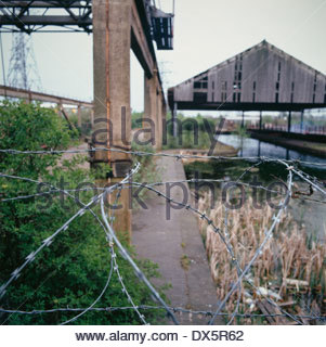 Abandoned industrial site, West Midlands, UK - Stock Image