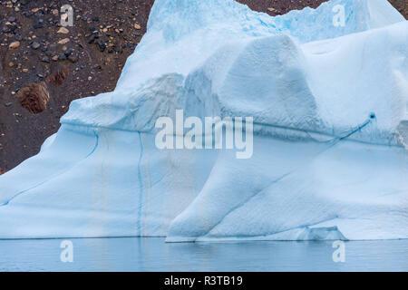 Greenland. East Greenland National Park. Kong Oscar Fjord. Antarctic Sound. Iceberg. - Stock Image