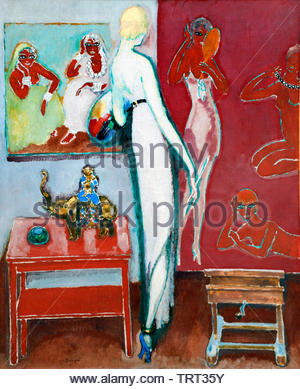 Amusement - fun 1914 by Kees van Dongen (Cornelis Theodorus Maria) born in 1877 was a Dutch-French painter who was one of the leading Fauves. The Netherlands, France. - Stock Image
