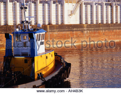 Seattle tugboat in the Duwamish Waterway of Seattle, Wa, USA - Stock Image