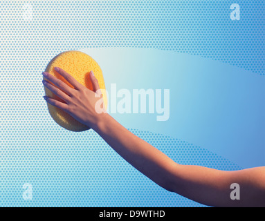 cleaning lady - Stock Image