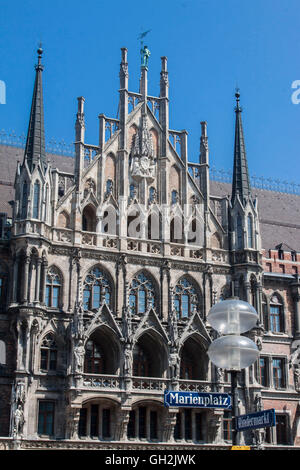 New Town Hall Munich Germany - Stock Image