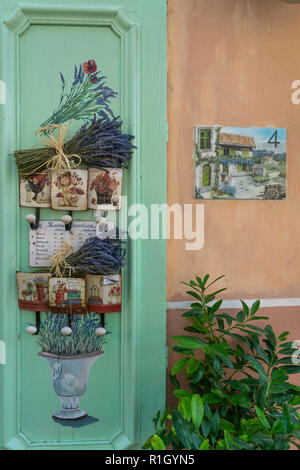 Souvenir shop in Les Mees, Lavender, Provence, France - Stock Image