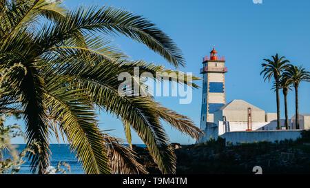 Santa Marta Lighthouse Cascais, Portugal, opened in 1868 - Stock Image