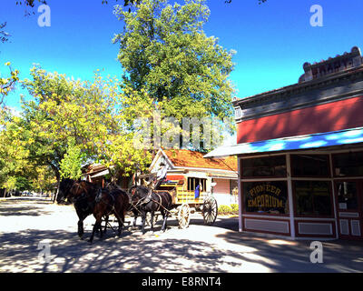 Columbia State Historic Park, Columbia, Tuolumne county, California, USA. October  13, 2014. Quartz Mountain Stagecoach - Stock Image