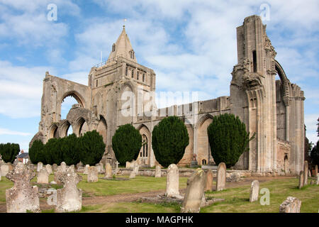 west arches of ancient Croyland Crowland Abbey which housed up to 40 benedictine monks, Great Postland Fens, Lincolnshire. It was founded in memory of - Stock Image