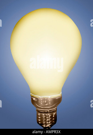 A Glowing Light Bulb - Stock Image