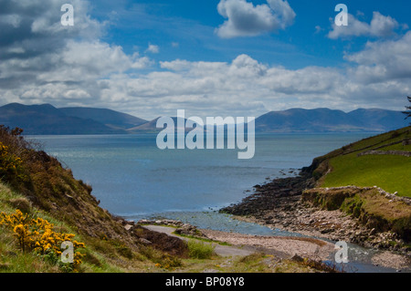 Dingle Bay and the Macgillicudy's Reeks Mountains - Stock Image