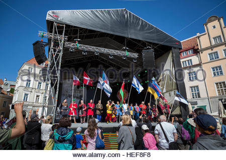 Opening of the Tallinn old town festival - Stock Image