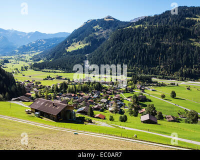 Matten, a village in the Bernese Oberland in the valley of the River Simme - Stock Image