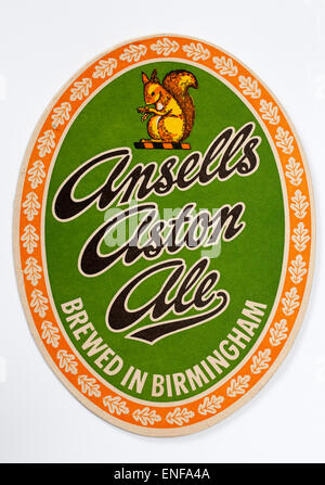 Vintage Beer Mat advertising Ansells Aston Ale - Stock Image