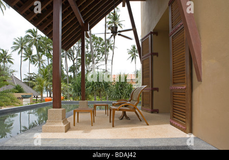 Library exterior at Four Seasons Resort Langkawi - Stock Image