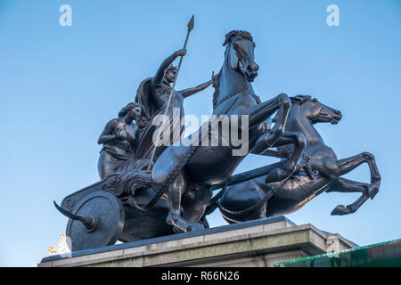 Boadicea and Her Daughters (Boudica statue), Westminster London, UK. - Stock Image
